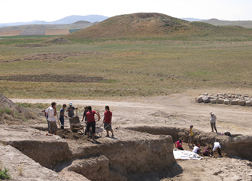 View of the excavation Area 1
