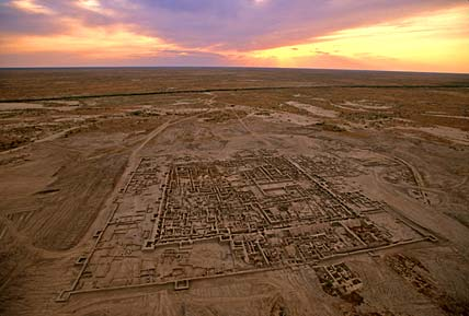 Togolok-21, a fortified BMAC site in Turkmenistan (Photo Credit: Google Image Search, www.andrewlawler.com).
