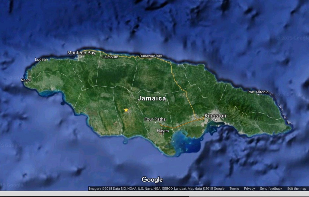 Aerial photo of Jamaica - Google Earth 2015