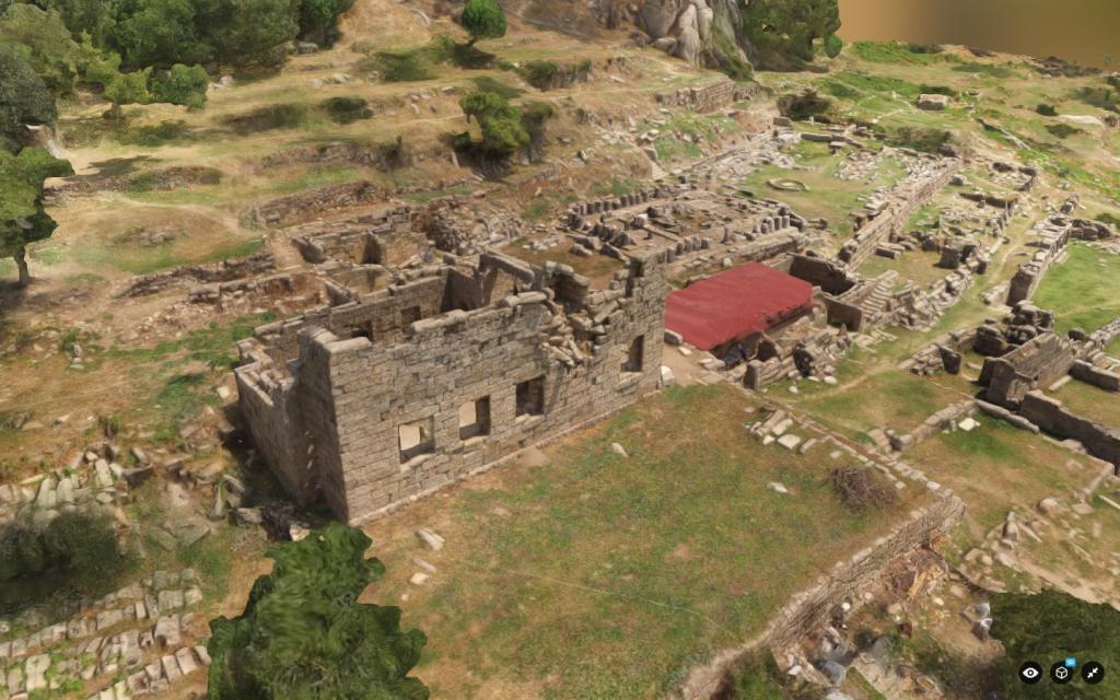 Screenshot, 3D model of Labraunda, created by Daniel Löwenborg