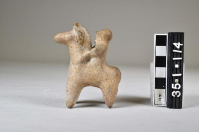 Horse and Rider Figurine, glazed ceramic, from Ur area NH
