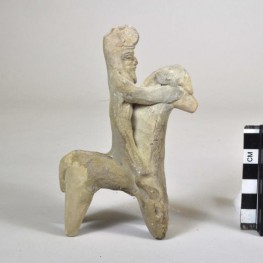Parthian horse and rider figurine from Nippur.