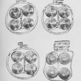 Pendants, each about one inch in diameter (Bass 1966:37).
