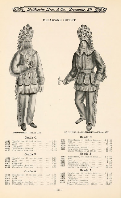 """Delaware"" outfit from 1911 DeMoulin Catalogue."