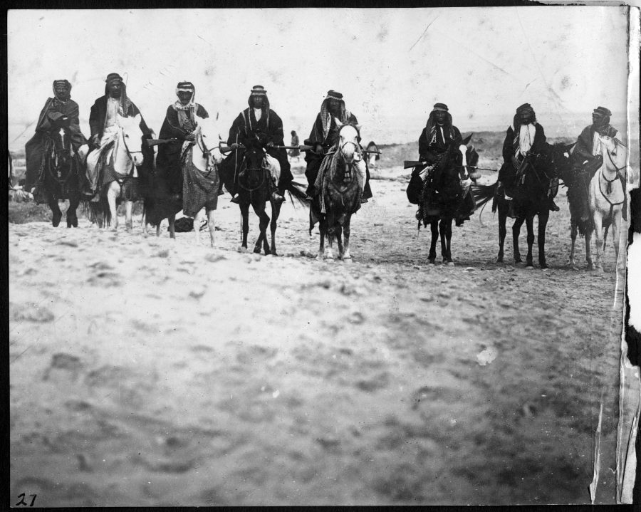 Local Sheikhs at Ur, taken during the first season (1922) when Woolley was establishing himself with the locals. UPM Field Photo 190027.