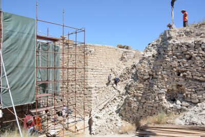 The rubble fill next to the citadel gate.
