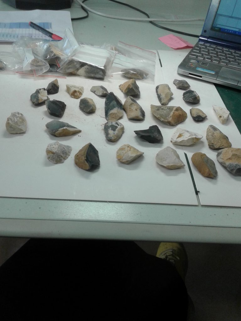 A view of the lithic collections, Abri-Pataud site. Photo by A. Abdolahdazeh.