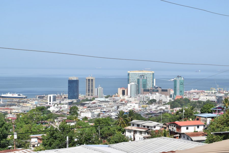 View of Port-of Spain, the capital city, from the Desperadoes amphitheater. Photo by Leniqueca Welcome.