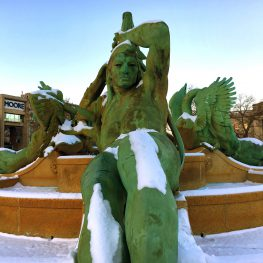 The Swann Memorial Fountain in Logan Circle, with sculptures created by Alexander Stirling Calder, ca. 1920-24. Photo by Tom Stanley.