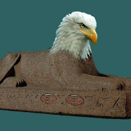 sphinx with eagles head