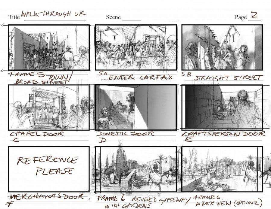 Journey Through Ur Storyboard