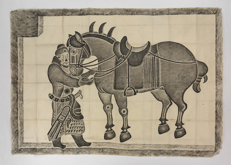 Saluzi the horse standing with Generaal Qui Xinggong