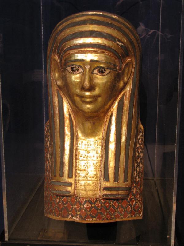 Gilded Cartonnage Mummy Mask (53-20-10a)