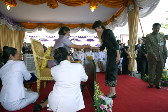 Dr. Joyce White with Her Royal Highness of Thailand, Crown Princess Maha Chakri Sirindhorn