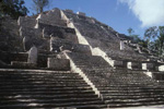 The 148 ft high Calakmul Structure II is the largest edifice at the city and has a construction history that extends at least 900 years.