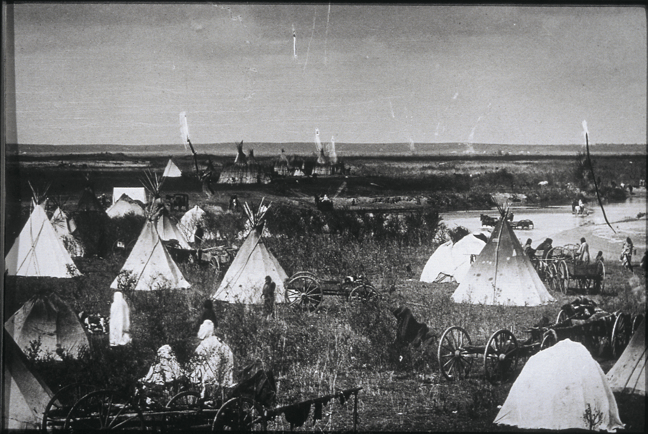 Cheyenne Village on Canadian River