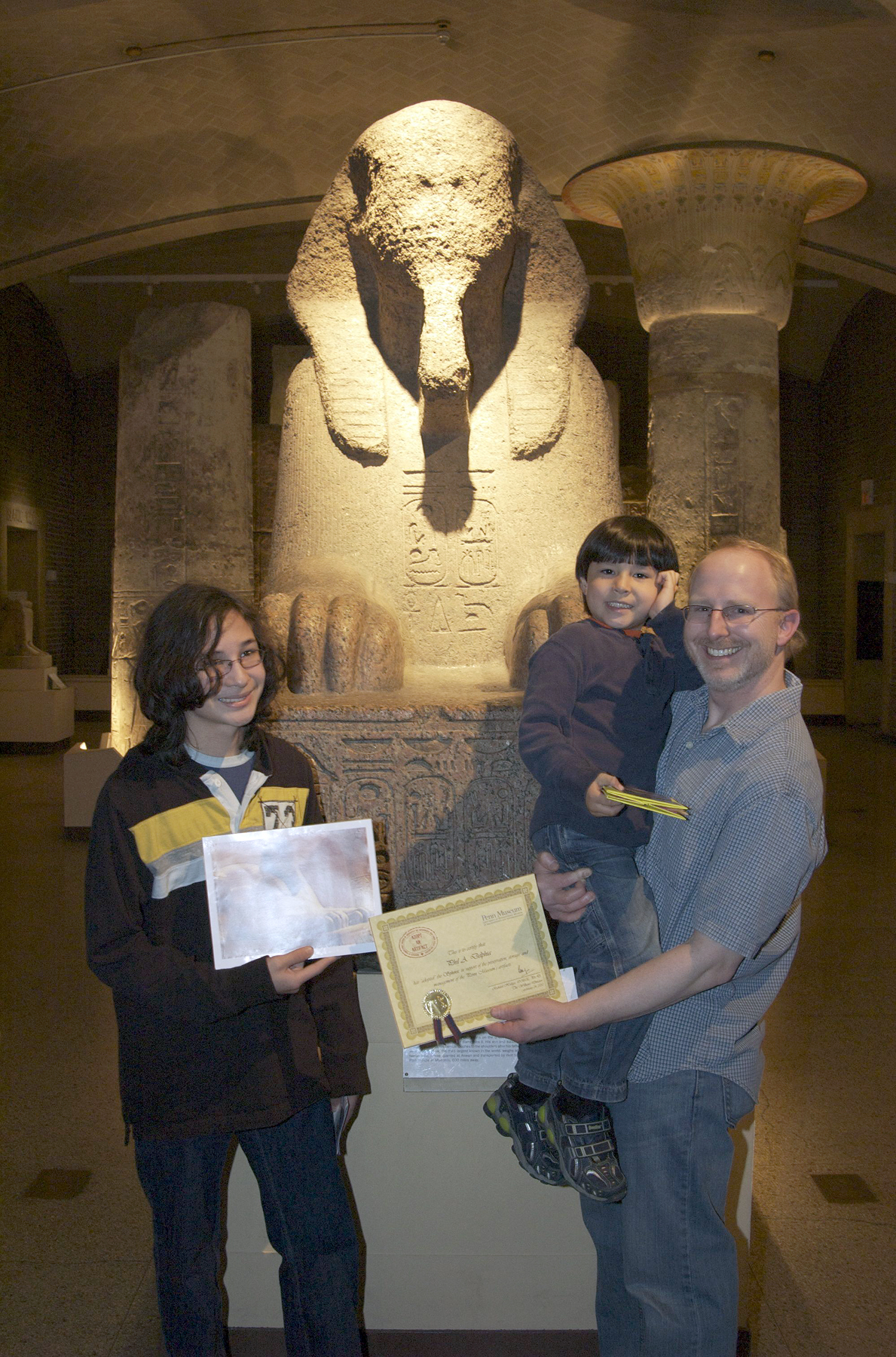 family adopts the sphinx!