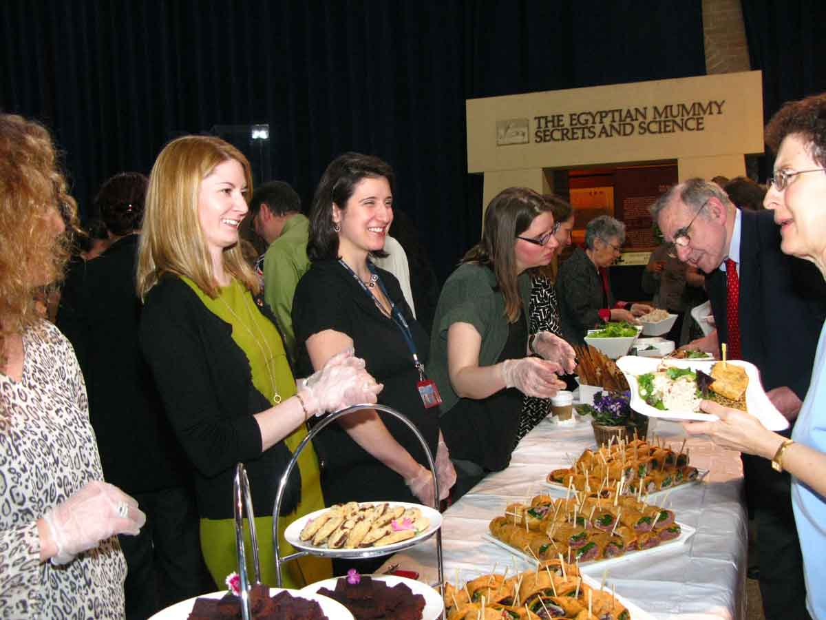 Penn Museum staff serve lunch