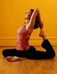 Yoga instructor Lauren Brown strikes a pose