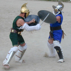 Gladiator bouts take place at Penn Museum on APril 23