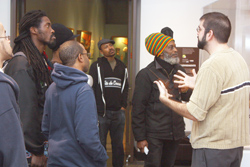Hip Hop Artists tour Imagine Africa Gallery Project.