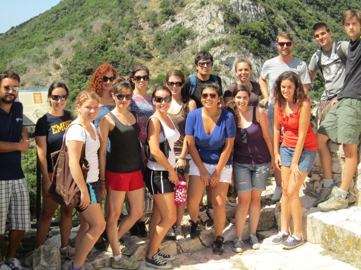Students at the Archaeological Field Project in Tuscany.