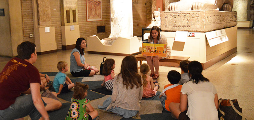 Kids attending Storytime Expeditions
