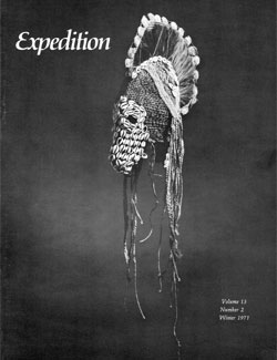 Expedition Volume 13, Number 2 Winter 1971