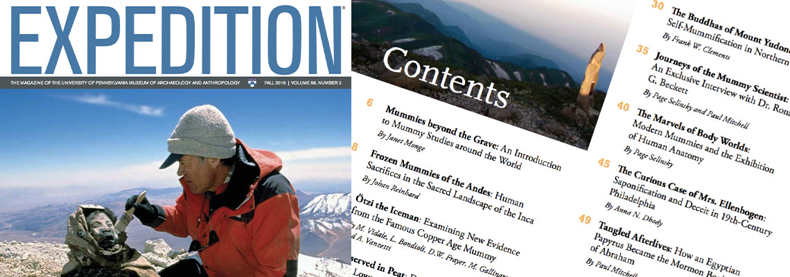 Expedition Magazine, the official members' magazine of the Penn Museum.