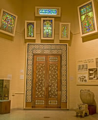 The Rayy Case contains some of the objects the museum received from Iran as a division of finds from Schmidt's excavations at Rayy.   These finds come mainly from a craftsmen's quarter where houses and workshops were tightly packed along a street, and represent the materials, processes and products of manufacture. Photo by Lauren Hansen-Flaschen