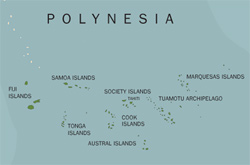 Map of Polynesia.