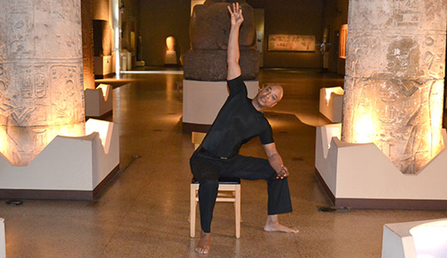 John Wylie Chair Yoga in the Egpyt (Sphinx) Gallery