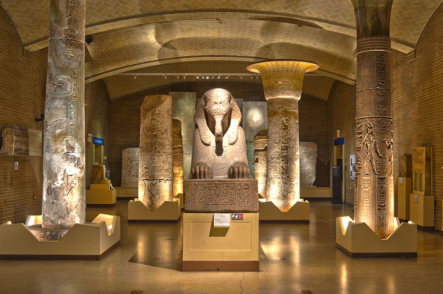 Penn Museum S Iconic Egyptian Sphinx Takes A Quot Staycation