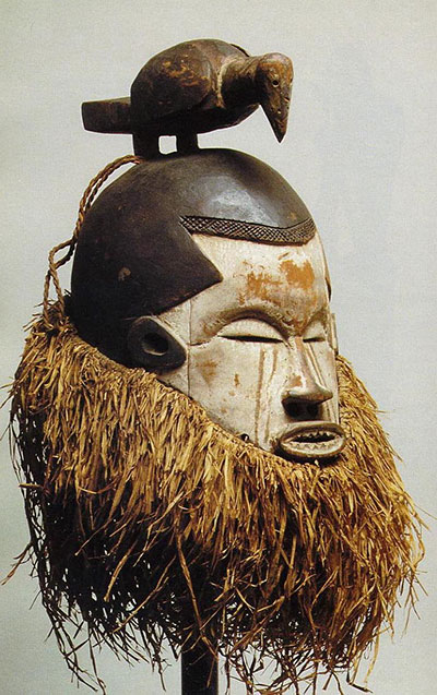 Wooden mask from present day Democratic Republic of Congo