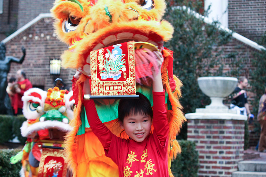 Child with Dragon at Celebration
