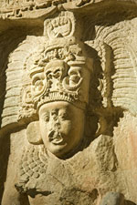 Stela 14, Piedras Negras, Central Lowlands, Guatemala; Classic Maya, 758 CE,  (Limestone; Loan from the Government of Guatemala).
