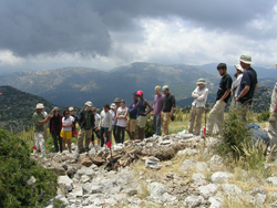 Excavation team at Mount Lykaion