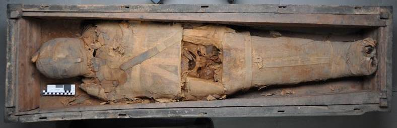 PUM I, before treatment in his coffin