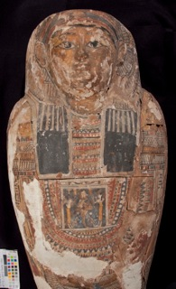 An overall view of the sarcophagus