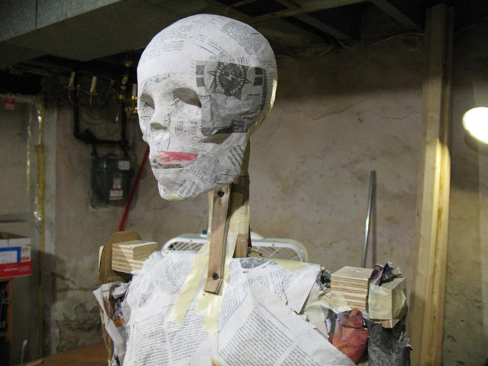 "The ""skeleton"" of Ben's mummy"
