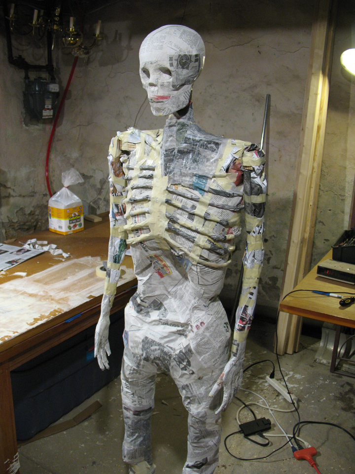 The body of the mummy taking shape