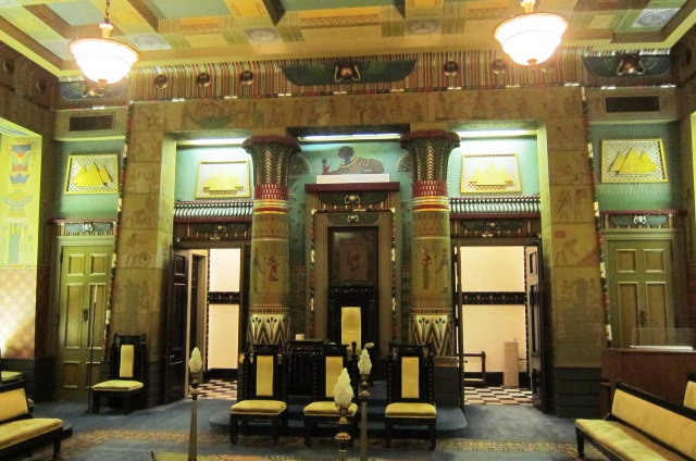 A shot from inside the Egyptian Room at the Masonic Temple.