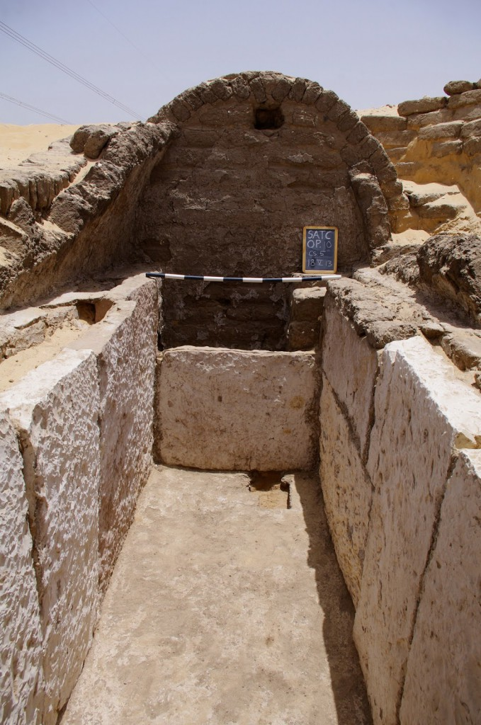 View of the burial chamber from tomb CS.5