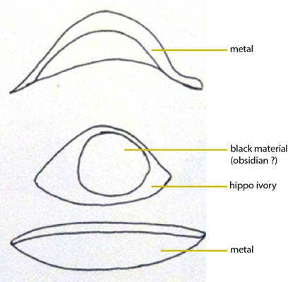 Structure of Kay's eyes and identification of the materials we have on Adu's eyes (from ZIEGLER, 1997, p.259)