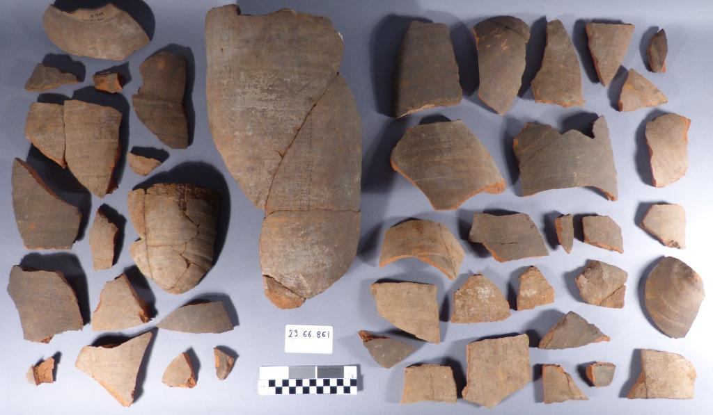 General view of the fragments before cleaning.