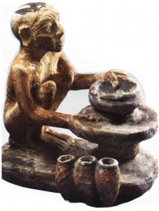Statuette of an egyptian potter at work (beginning of  the 2nd mill. B.C).