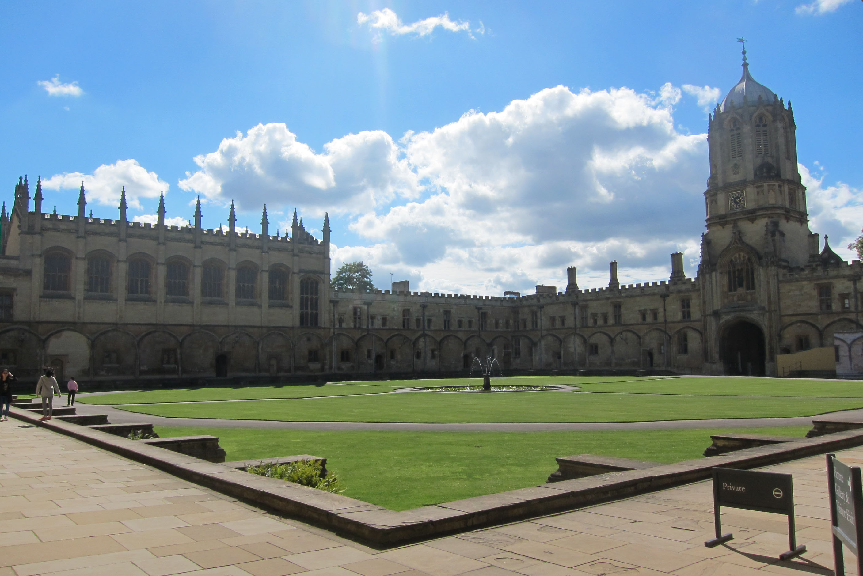 Christ Church buildings as seen from Tom Quad