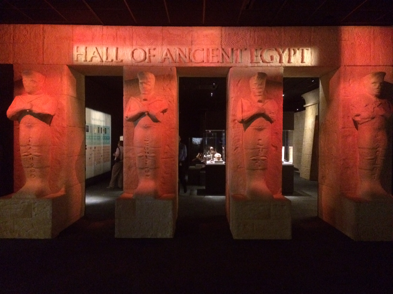Entrance to the Hall of Ancient Egypt at HMNS