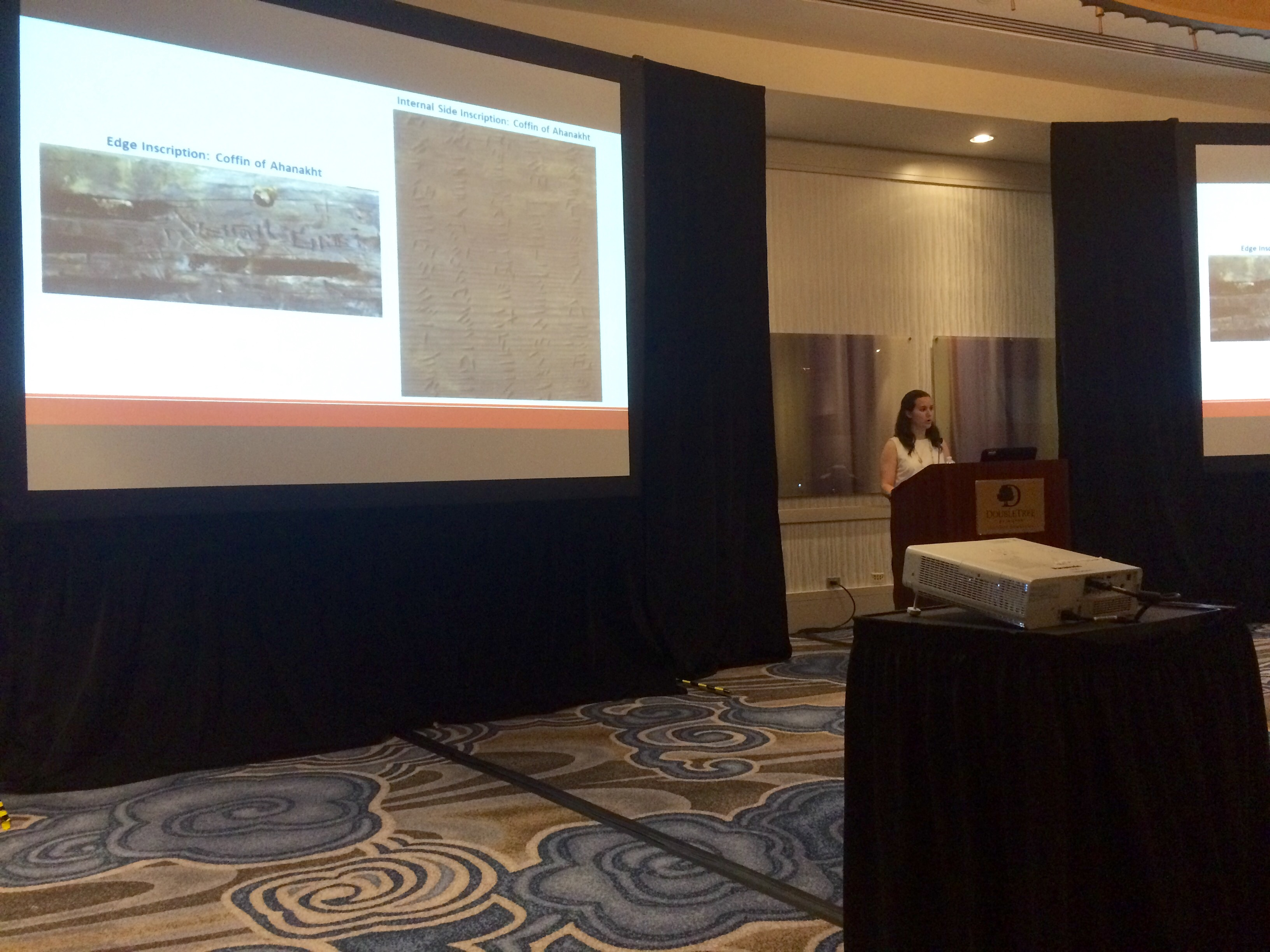 Leah Humphrey, presenting at the ARCE annual meeting