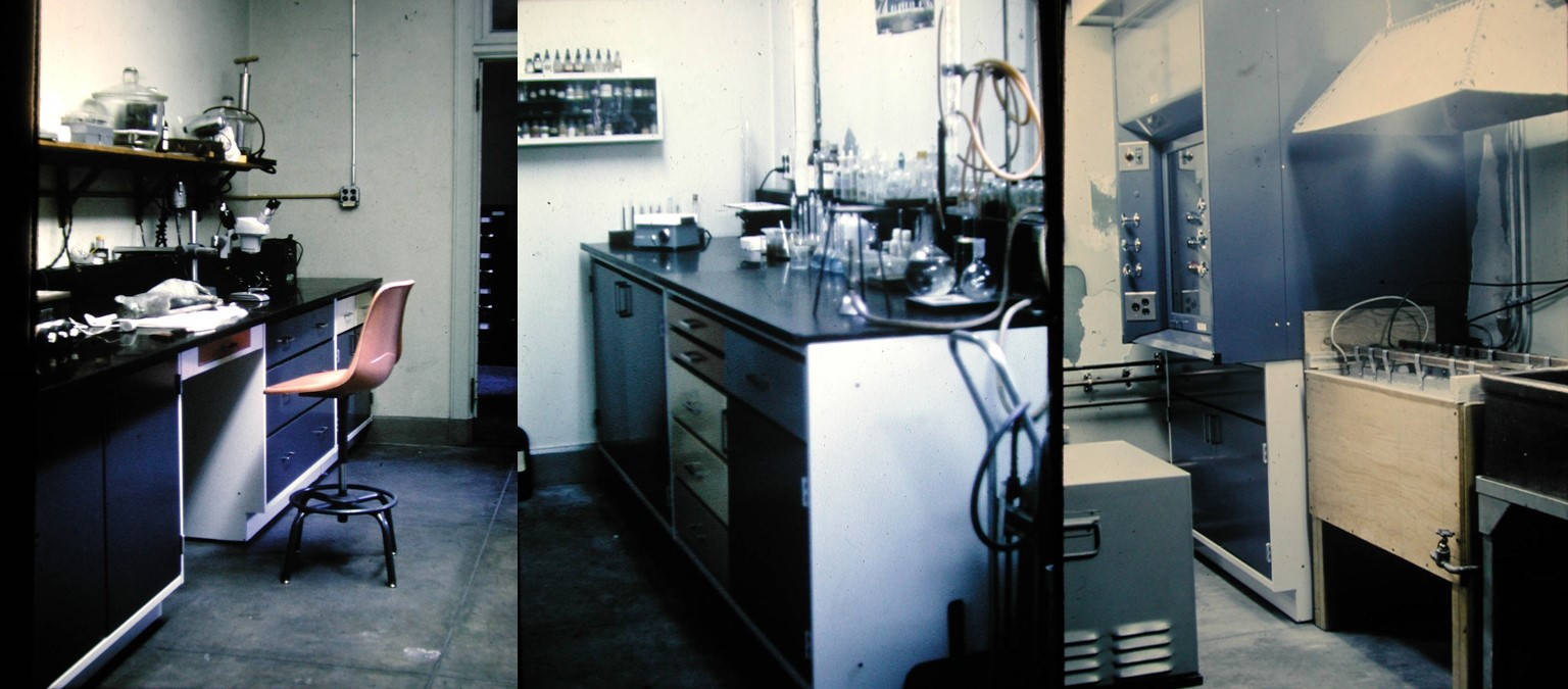 Views of the Conservation Lab ca. 1968